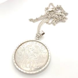Occasion ketting met 2,5 gulden munt hanger