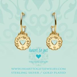 Heart to Get - Bohemian Coin Heart  - Oorbellen - Goldplated