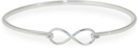 Lovenotes armband infinity - Zilver - Klemarmband