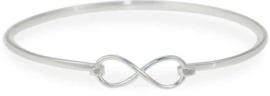 Lovenotes armband infinity - Zilver - Klemarmband