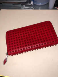 Christian Louboutin Panettone Red Leather Long Wallet