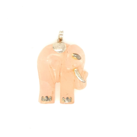 Occasion olifant hanger van rozenkwarts