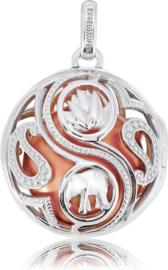 Engelsrufer Hanger ERP-16-BALANCE-LUNA - Gerhodineerd sterling zilver