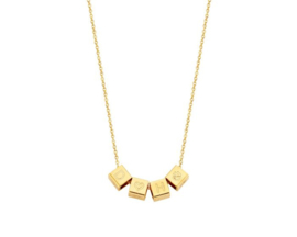 Just Franky Cube Necklace | 4 cubes