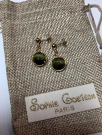 Sophie goetsch Paris oorbellen groen Rock