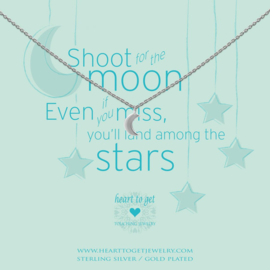 Heart to Get - S Moon Silver Ketting