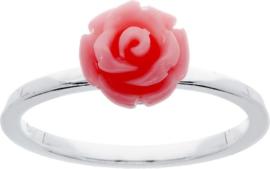 Lilly - Zilveren kinderring met roos