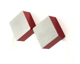 Occasion aluminium oorknopjes van Clic Creations