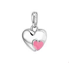 Zilver Gerhodineerde Hanger hart