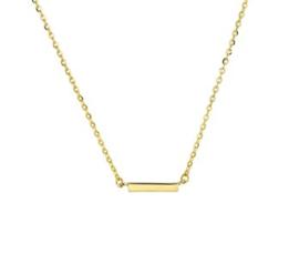 Geelgouden collier balkje 1,0 mm 41 + 4 cm
