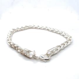 Occasion zilveren vossestaart armband in nieuwstaat