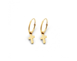 Just Franky Iconic Earring Cross Charm Pair