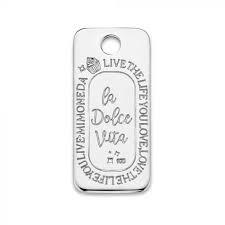 Mi Moneda Carpe Diem Square 925 Silver