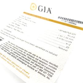GIA Diamant - lot totaal 0.3150 ct - rond briljant - Natural / M-Z