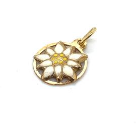 Occasion gouden hanger Edelweiss bloemetje