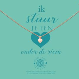 Heart to Get - Hart Onder De Riem - Ketting - Rosé