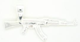 Zilveren hanger mitrailleur