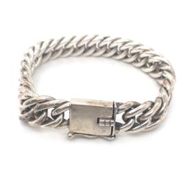 Occasion zilveren zware gourmet armband