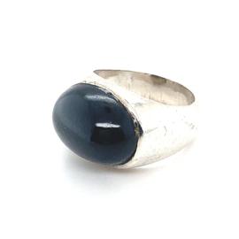 Occasion ring met zwarte stersaffier