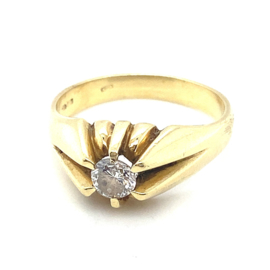 Occasion gouden ring met diamant 0.50ct