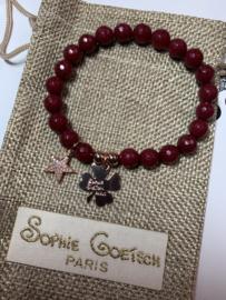 Sophie goetsch Paris armband rood rose