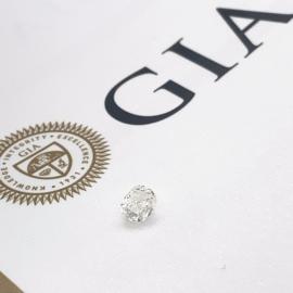 GIA Diamant - 0.50 ct - rond briljant - VVS2 G