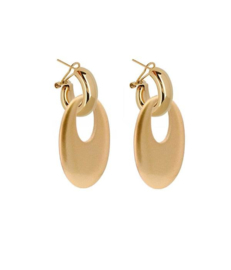 AMJOYA Earrings Buffelhorn Gold