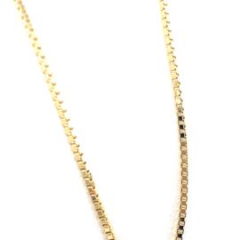 Geelgouden venetiaans collier 1mm 45cm