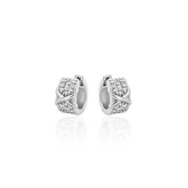 AG925 Zilveren oorbellen met zirkonia