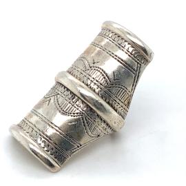 Occasion brede zilveren gegraveerde ring