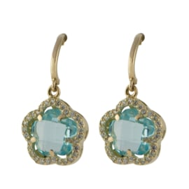 Cataleya Earrings Daisy Flower Blue