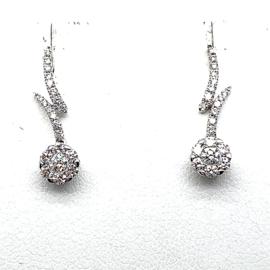 Coronet Diamonds oorhangers 18K bezet met 0,422ct diamant