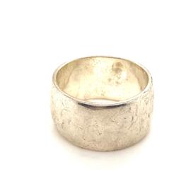 Occasion zilveren brede ring