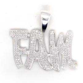 Zilver hanger met FAM logo