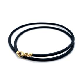 Occasion rubberen collier met gouden sluiting