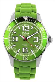 Colori 5-COL052 - Horloge - Siliconen - Groen - Ø 40 mm
