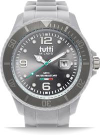 Tutti Milano TM001GY- Horloge - 48 mm - Grijs - Collectie Pigmento