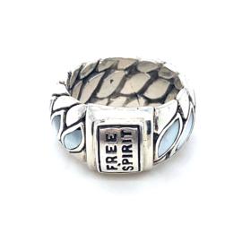 Occasion zilveren ring 'Free Spirit'