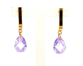 Cataleya Earrings Half Wave & Pear Purple