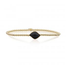 Sparkling Jewels Onyx Blossom armband