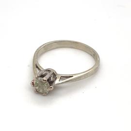 Occasion witgouden solitair ring met diamant 0,56ct P3-M