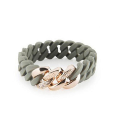 THE RUBZ THE RUBZ ARMBAND CRYSTAL MINI GREEN - ROSE
