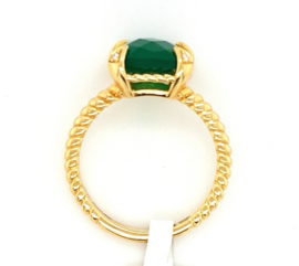 Monzario Ring Colori groene agaat
