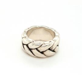 Occasion zilveren Buddha to Buddha gevlochten ring