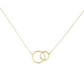 Cataleya Jewels ketting met hanger cirkels 14 kt