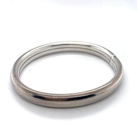 Occasion zilveren dop bangle armband