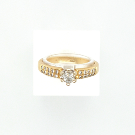 Occasion solitair ring met 0.39ct diamant VVS-H