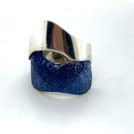 Occasion ARIOR Barcelona ring blauwe emaille