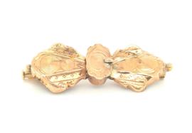 Occasion handgemaakte gouden antieke broche met gegraveerde details