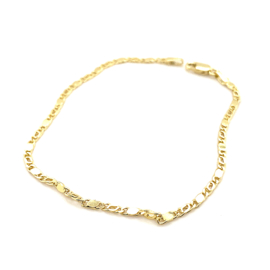 Occasion gouden figaro armband